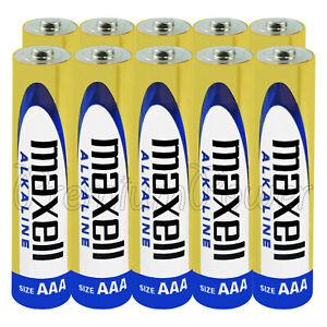 10-X-Maxell-AAA-LR03-Pilas-Alcalinas-1-5V-MN2400-Micro-AM4-Stilo-Gran-Valor