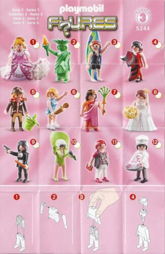 PLAYMOBIL 5244 PERSONAGGI FIGURES SERIE 3 Girls-come nuovo