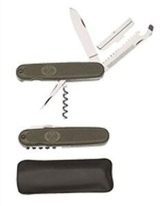 BW-Bundeswehr-Taschenmesser-oliv-Armee-Outdoor-Angeln-Neu-mit-Tasche