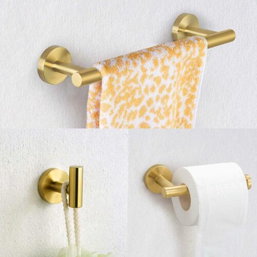Bathroom Accessories Kit Hand Towel Bar Toilet Paper Holder Robe Towel Hooks 3pc