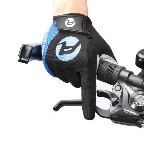 Cycling Full Finger Gloves Antiskid Antislip Men Women Bicycle Gel Pad Road Bike