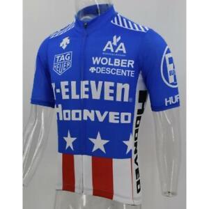 8db7f83e0 Image is loading 7-Eleven-11-USA-Blue-Retro-Cycling-Jersey