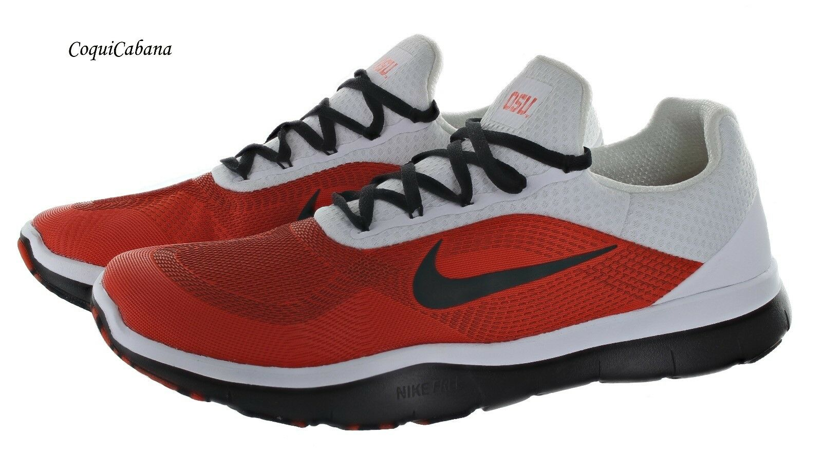 Nike Men's  Free Trainer V7 Week Zero  White orange Training shoes Size 11.5 New