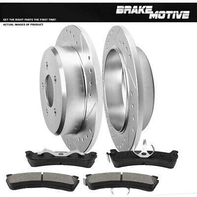 2003 2004 Ford Explorer Sport Trac Slotted Drilled Rotors Metallic Pads R