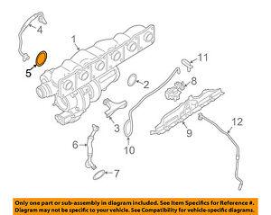 BMW OEM 10-16 X6 Turbocharger Turbo-Oil Inlet Tube O-ring 11427590576