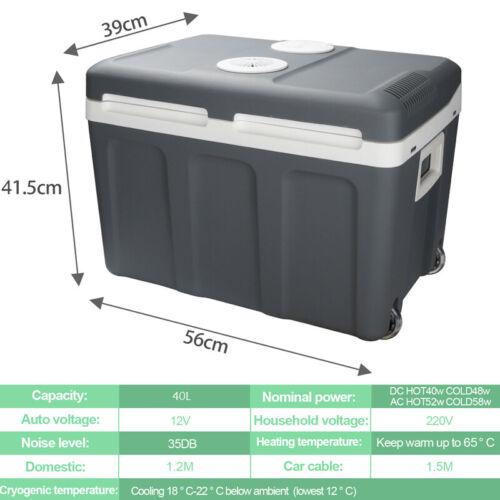 Kühlbox Isoliertasche Thermoelektrische Warmhaltebox mit Rollen PU 24L 32L 40L