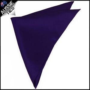 Mens-Dark-Purple-Pocket-Square-Handkerchief-hanky-kerchief-men-039-s