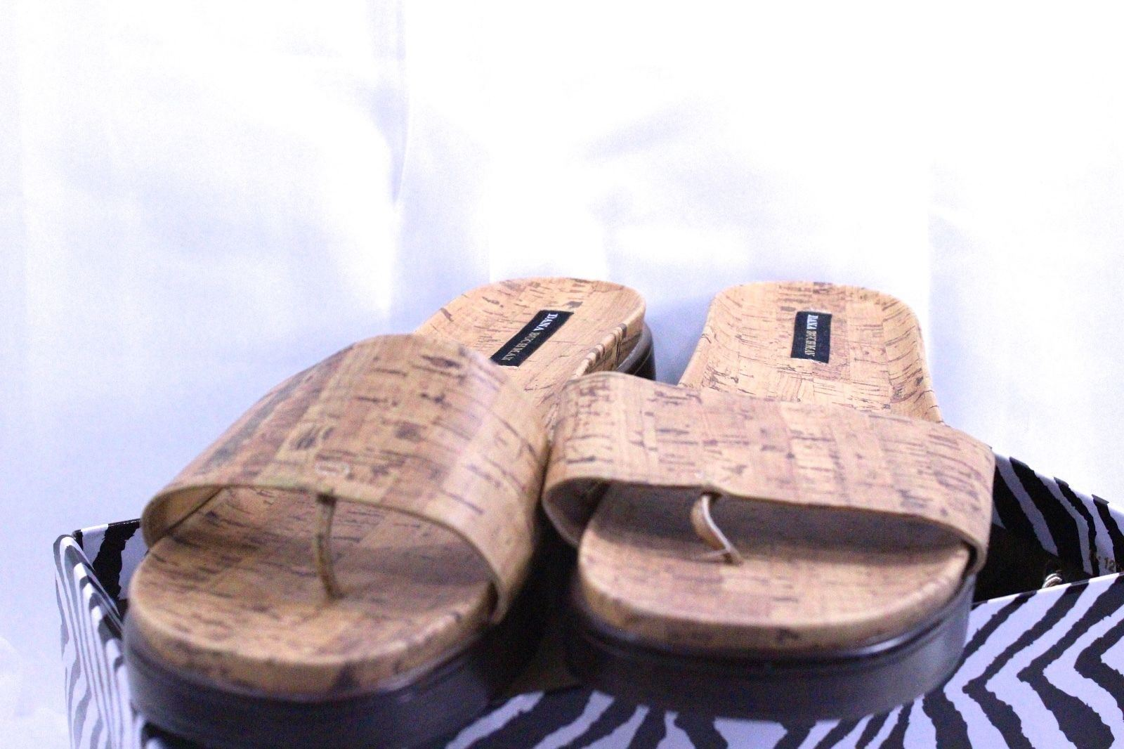 Dana CORK, Buchman Size 10M PAYDER CORK, Dana Tan & Brown Sandal Thong  NEW 87c193