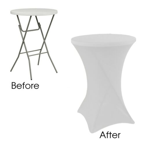 Round Spandex Table Covers Stretch Tablecloth for Standard Cocktail Tables