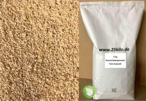 Nussschalengranulat Strahlmittel Walnuss-Granulat Strahlen Tumbler Finish 5,0 kg