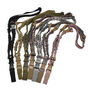 Hunting Tactical Single one Point Adjustable Bungee Rifle Gun Sling Strap