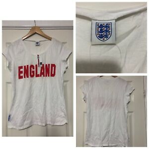 George-Angleterre-femme-T-Shirt-Blanc-Taille-14-Manches-courtes-NEUF-C711