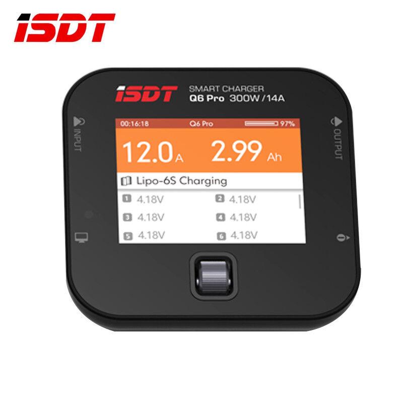 ISDT Q6 Pro Lipo Battery Balance Charger Digital BattGo 300W 14A For Quadcopter