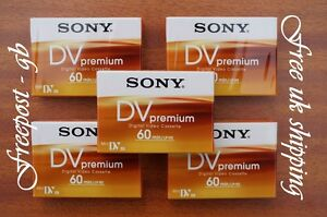 SONY-PREMIUM-DVM60-MINI-DV-TAPES-CASSETTES-PACK-OF-5-BRILLIANT-QUALITY