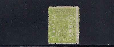 Sg 271a Wmk Upright 6sh F Gebraucht Diversifizierte Neueste Designs Zielsetzung Australien Victoria 1891 Briefmarke Duty