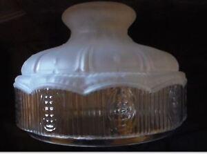 10 glass oil kerosene lamp shade satin crystal top clear panels 10 034 glass oil kerosene lamp shade satin mozeypictures Gallery