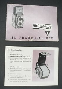 Rollei-Rolleiflex-T-In-Practical-Use-1958-Camera-Instruction-Book-Guide