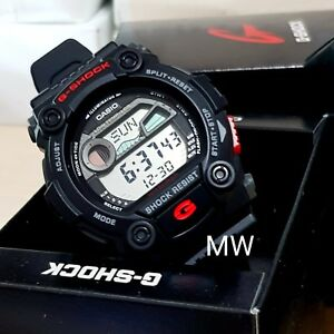 e3fe7e3dacd61 Authentic Casio G-7900-1 G-Shock BLACK G-Rescue Tide Moon Men s ...