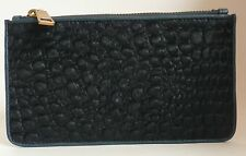 Liebeskind Berlin Rabia Clutch Wallet Pouch Blue Leather and Synthetic Calf Hair