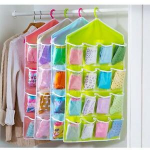 16-Grid-Underwear-Bras-Socks-Ties-Shoes-Storage-Organizer-Box-Hanging-Bags-6L