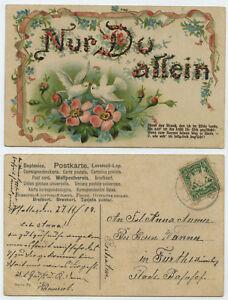 51913-Nur-Du-allein-Ansichtskarte-gelaufen-27-11-1907-nach-Fuerth