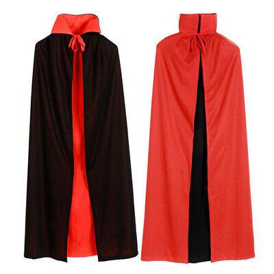 Adult 65inches Velvet Hooded Devil Vampire Cape Cloak Halloween Fancy Dresses