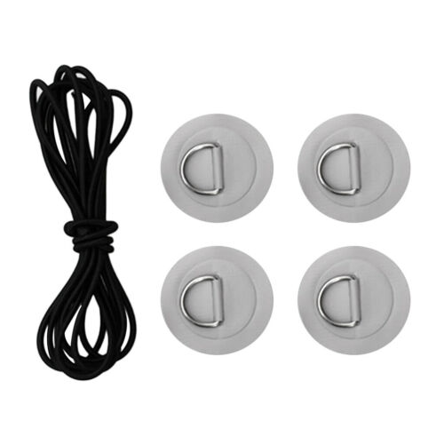 D-ring Pad PVC Patch Shock Cord for Kayak Canoes Rigging Kit Inflatable Boat