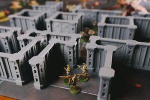 Details about Gamma Zone Modular Wall Set, 28mm Wargame Terrain for Zone  Mortalis Necromunda