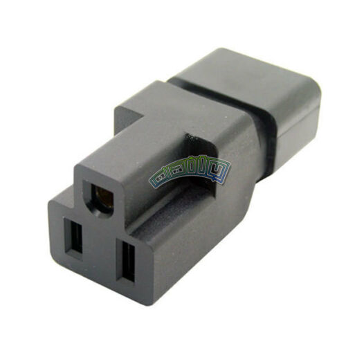 C14 to Nema 5-15R PDU PSU USP Power Adapter IEC male to US Female Plug Converter