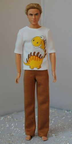 №313 Clothes for Ken Doll T-shirt and Pants for Dolls.