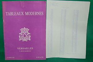catalogue-vente-encheres-VERSAILLES-Tableaux-modernes-liste-prix-de-vente-3