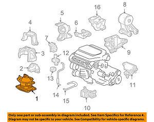details about honda oem 05 07 odyssey engine motor mount torque strut 50830shj305 2007 Honda Odyssey Relay Diagram