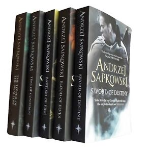 The Witcher Series 5 Book Collection by Andrzej Sapkowski Book Fantasy New 9789123597956