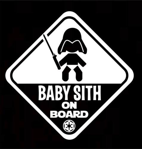 Baby Sith On Board Baby Child Window Bumper Car Sign Window Sticker