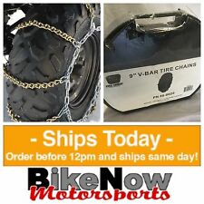 "Cycle Country Koplin ATV 9"" V Bar Tire Chains Set B Size Carrying Case 50-0020"