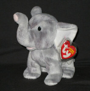 187cfd18466 TY SHOCKS the ELEPHANT BEANIE BABY - MINT with MINT TAG 8421406005 ...