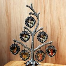 "Pewter Photo Frames Family / Baby Tree Design 7 Photos (1.5 x 1.5"") High Quality"