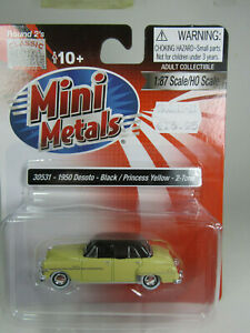 1-87-Classic-Metal-Works-1950-Dodge-Sedan-hellgelb-USA-Fertigmodell