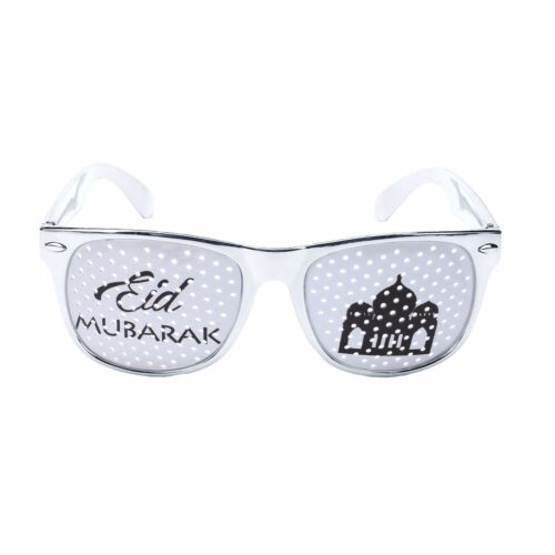 Mosque Silver Islam Eid Mubarak Ramadan Celebration Glasses Metallic Shades