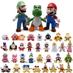 Super Mario Bros Koopa Bowser Luigi Yoshi Wario Plush Toy Doll