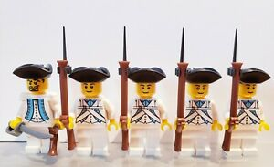 Lego-PIRATES-AMERICAN-REVOLUTION-Colonial-FRENCH-Soldiers-MINIFIGS-NEW