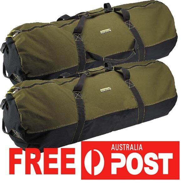 Heavy Duty Canvas Cabela Duffle Bag Carry Travel Ultility Camping 36  90x50cm