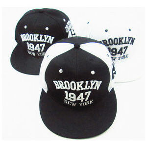 Image is loading CL-1947-Brooklyn-Style-Baseball-Cap-Snapback-Cap- 8ba0579794e
