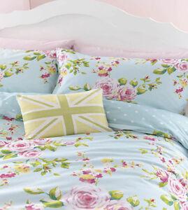 Duck Egg Pink Amp Blue Floral Or Spots Reversible Girls