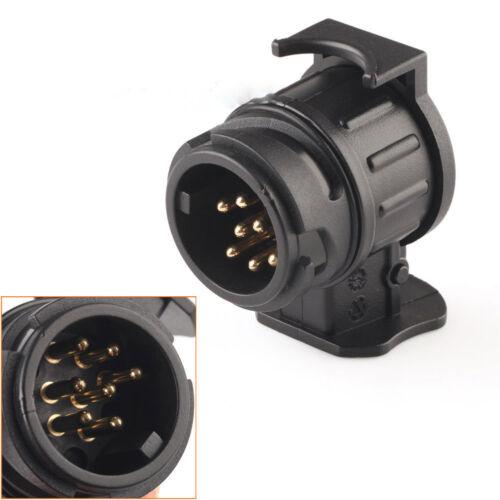 Car Trailer Truck 13 Pin to 7 Pin Plug Adapter Converter Tow Bar Socket Black JM