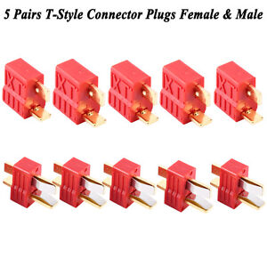 5-Pairs-Deans-Ultra-T-Style-Connector-Plug-Female-amp-Male-For-RC-LiPo-Battery-Hot