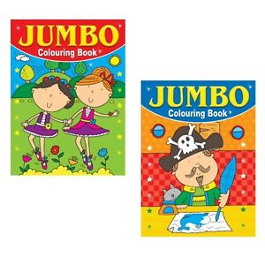 2 x A4 150 PAGE  JUMBO CHILDREN'S COLOURING BOOKS BOOK FUN PICTURES LEARNING