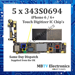 5 x 343S0694-iPhone 6/6+/6 PLUS Controller Touch Digitizer Chip IC-U2402