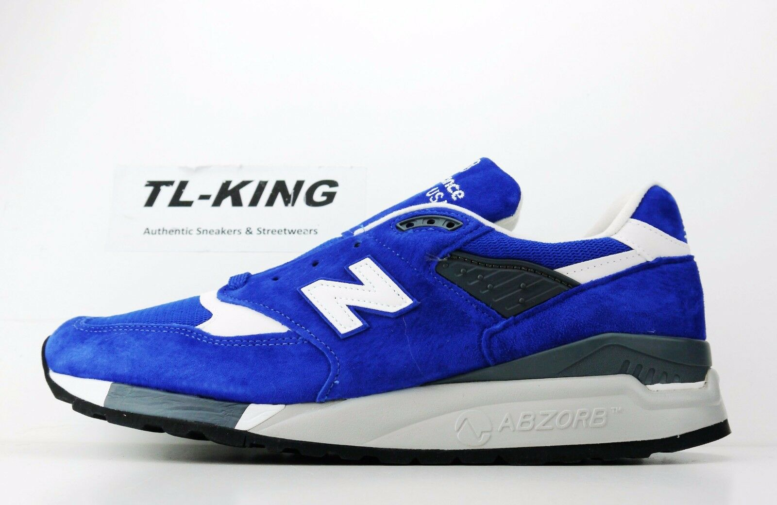 New Balance M998CBU bluee White Made in USA Classic Sneaker Msrp  BW