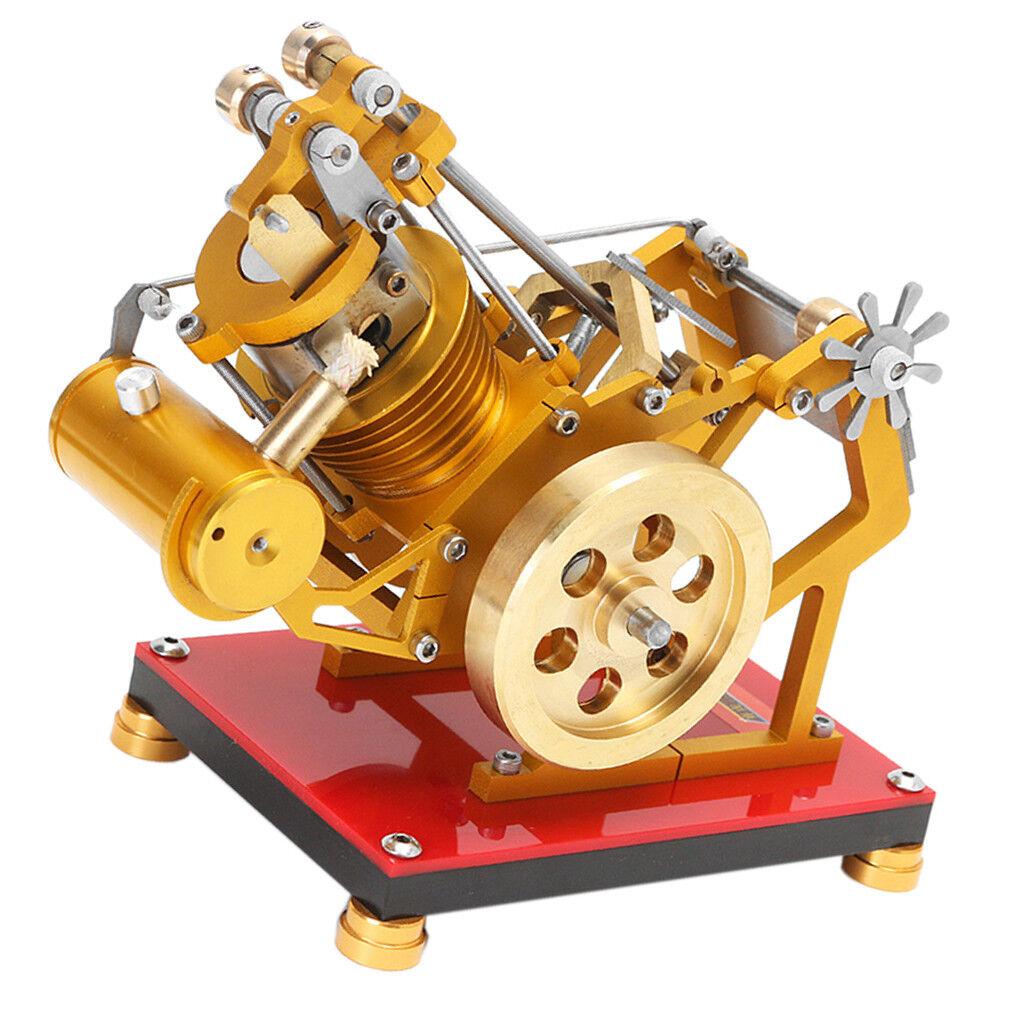 V1-45 Stirling Engine SOHC Motor Steam Power Model Physical Kits 300-2000RPM